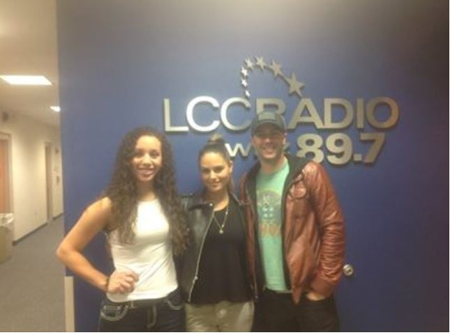DUO (Pia Toscano & Jared Lee) and Taylor Taylor at the LCC Radio 89.7 WLNZ Studios