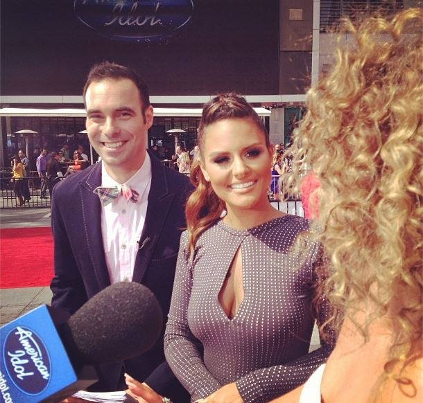 Pia Toscano and Jim Cantiello Interview Haley Reinhart -American Idol Pre-Show Event