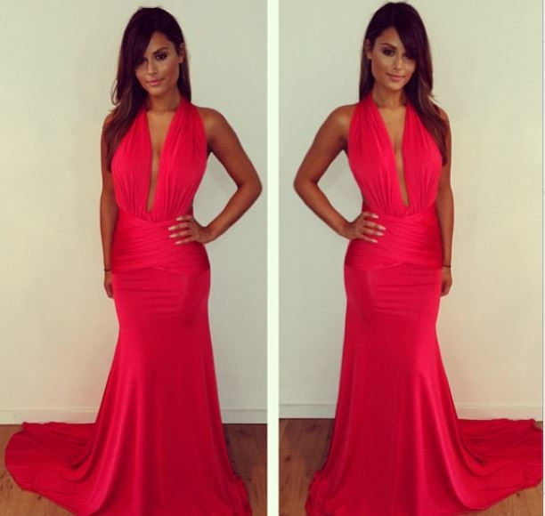 Pia Toscano Looking Totally Glam in her Michael Costello Original