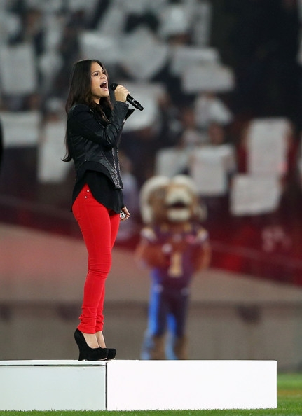 Pia sings The National Anthem at Wembley Stadium #2