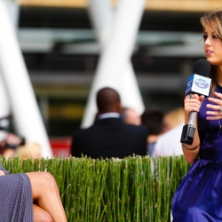 Pia Toscano and Jim Cantiello interview Angie Miller at the American Idol Finale Pre-Show