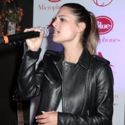 Pia Toscano at Crustacean Beverly Hills Red Hour Live Music Series 5.28.14