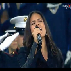 Pia sings The National Anthem at Wembley Stadium #3