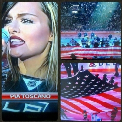 Pia Toscano sings the National Anthem LA Kings vs Chicago Blackhawks - Western Conference Finals Game 3 - 6/4/13 (3)
