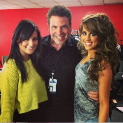 Pia Toscano, Michael Orland and Angie Miller Backstage at American Idol