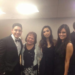 Pia Toscano, Stefano Langone and Jessica Sanchez- Event at the Beverly Hilton March 9th #2