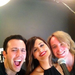 Pia Toscano and Jared Lee at StageIt Headquarters