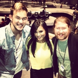Pia Toscano, Casey Abrams and James Durbin at American Idol