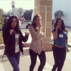 Pia Toscano, Alessandra Guercio and Brielle VonHugel at  Hollywood Week Rehearsal