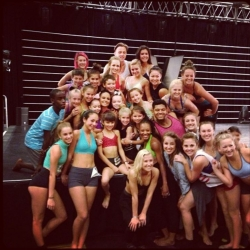 Pia Toscano With The Entire Group of Dancers at Velocity Dance Co.'s Season Finale Gala