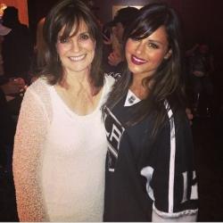 "Pia Toscano and Linda Gray of ""Dallas"" at LA Kings vs Dallas Stars Game April 21st"