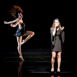 Pia Toscano Performing with Jasmine Mason at the Mather Dance Company Annual Show #12