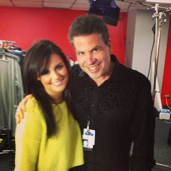 Pia Toscano and Michael Orland Backstage at American Idol