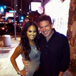 Pia with Michael Orland outside the Viper Room