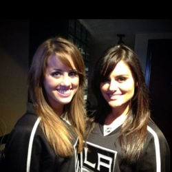 Pia Toscano and Angie Miller at the LA Kings vs Anaheim Ducks Game- April 13th