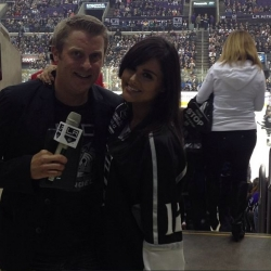Pia Toscano and Jay Flats at the LA Kings vs Anaheim Ducks Game April 13th
