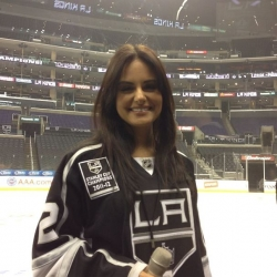 Pia Toscano at the LA Kings vs Detroit Red Wings game February 27th 2013