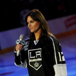 Pia Toscano sings the National Anthem - LA Kings vs. Colorado Avalanche- February 23rd