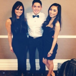 Pia Toscano, Stefano Langone and Jessica Sanchez- Event at the Beverly Hilton March 9th #1