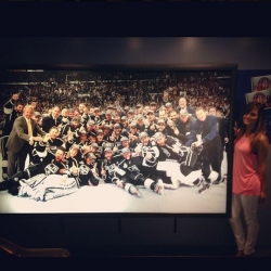 Pia Toscano at the Hockey Hall of Fame #2
