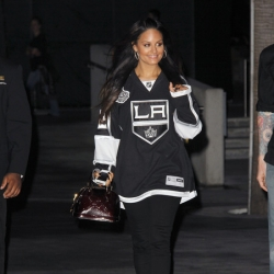 Pia Toscano at the LA Kings Victory Game #1