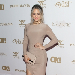 Pia Toscano Attends the OK! Magazine Pre-Grammy Party - 2/12/16