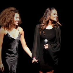 Pia Toscano with Jasmine Mason at the Mather Dance Company Annual Show #14