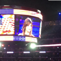 Pia Toscano sings the National Anthem for the LA Kings vs the San Jose Sharks Game 5 (3)