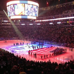 Pia Toscano sings the National Anthem for the LA Kings vs the San Jose Sharks Game 5 (1)