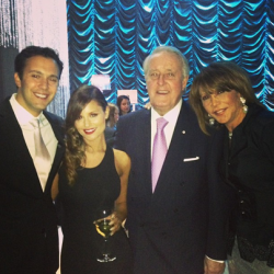 Pia Toscano at the Butterfly Ball with Jared Lee, the Former Canadian Prime Minister Brian Mulroney and His Wife