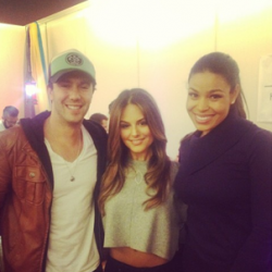 Pia Toscano, Jared Lee, and Jordin Sparks at the 102.7 KIIS FM Gifting Suite