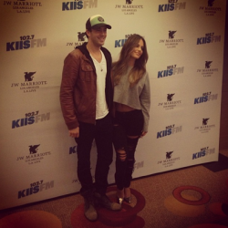 Pia Toscano and Jared Lee at the 102.7 KIIS FM Gifting Suite