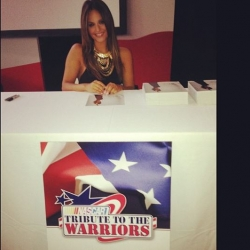 Pia Toscano at NASCAR's Tribute to the Warriors at Walter Reed National Military Medical Center